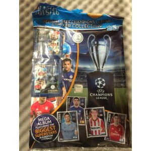 Topps UEFA 2015-16 Champions League Matrica album+4 csomag